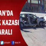 KOZAN'DA 2 OTOMOBİL ÇARPIŞTI ;4 YARALI